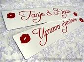 auto tablice za vjenčanje tip 16