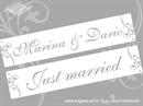 Auto tablica za vjenčanje TIP 9