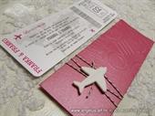 Pozivnice za vjenčanje - Pink Boarding pass