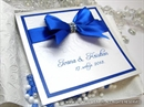 Ekskluzivna čestitka - Royal Blue Bow