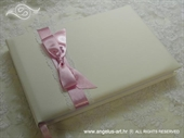 Wedding guestbook - Pink Bow
