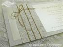 Pozivnica za vjenčanje Harmony Simple Cream