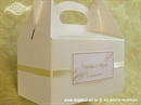 Kutija za kolače - Krem ornamenti