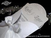 Pozivnica za vjenčanje White Lace Mini Beauty