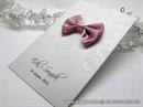 Pozivnica za vjenčanje - Pink Bow Charm