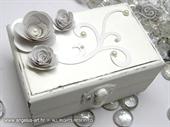 Jastučić za prstenje Škrinjica White Elegance
