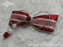 Kitica za rever - Red and White Pearls