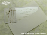 bijelo zlatna pozivnica u kuverti s tiskom