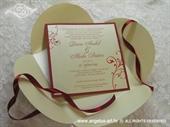 Pozivnica za vjenčanje Red Beauty
