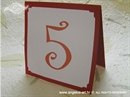 Broj stola za vjenčanje - Bordo ukrasni broj