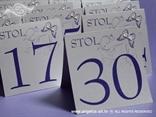 brojevi stolova s leptirima i vilinim konjicem