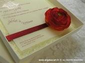 Ekskluzivna čestitka - Red Flower