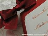 crvena pozivnica sa mašnom ukrasni rub