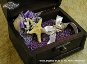 Jastučić za prstenje Škrinjica morska ljubičasta