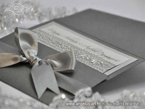 ekskluzivna srebrna pozivnica za vjenčanje
