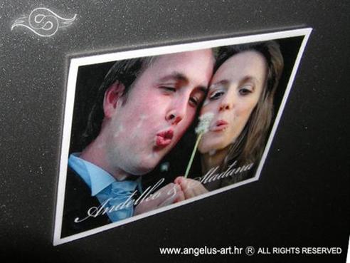 fotografija na magnetnoj foliji kao konfet za vjenčanje