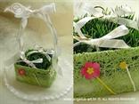 jastučić za prstenje u obliku košarice za proljetno vjenčanje