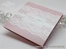 jeftina pozivnica sa cipkom roza
