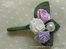 Kitica za rever za goste vjenčanja - Pearl Lilac Roses