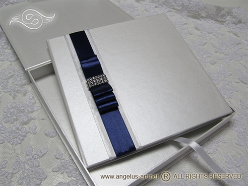 Luxury Guestbook Dark Bow