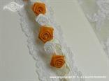 knjiga gostiju za vjenčanje sa satenskim ružama