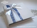 knjiga kao jastučić za prstenje plavo bijela