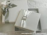 knjiga za vjenčano prstenje bijela s brošem u kutiji
