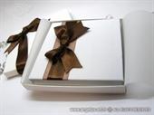 Knjiga za vjenčano prstenje Smeđa mašna