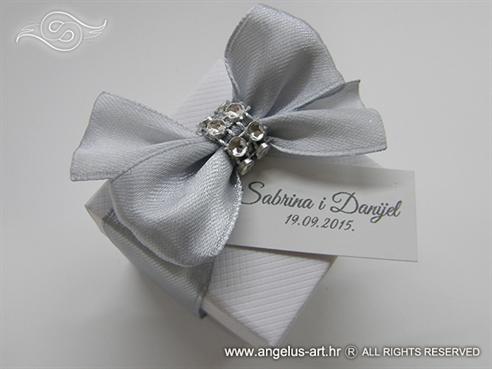 konfet kutijice za vjencanje sa srebrnom masnom