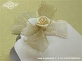 Konfet za vjenčanje Lavanda s krem mašnom