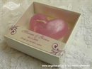 Konfet za vjenčanje Svijeća rozo srce