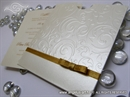 Pozivnica za vjenčanje Cream & Gold Charm