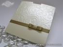 Pozivnica za vjenčanje - Gold Charm with Bow