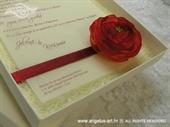 Pozivnica za vjenčanje Pozivnica u kutiji: Ruža