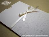 Pozivnica za vjenčanje Elegant Bow Charm