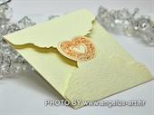 Pozivnica za vjenčanje Cream Heart Mini Beauty