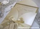Pozivnica za vjenčanje Cream Beauty