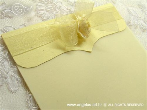 krem zahvalnica za vjenčanje s ružom