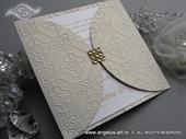 Pozivnica za vjenčanje - Gold Crystal Diva
