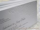 Pozivnica za vjenčanje - White letterpres elegance