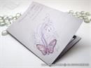 Zahvalnica za vjenčanje Leptirov let - lila 2