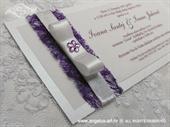 Pozivnica za vjenčanje Purple Flower Harmony