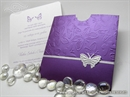Pozivnica za vjenčanje - Purle Butterfly Charm 1