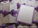 Pozivnica za vjenčanje Dark Purple Love