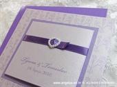 Pozivnica za vjenčanje Trendy Ljubičasto srce