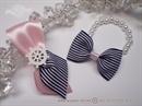 Sea Wedding boutonniere and bracelet