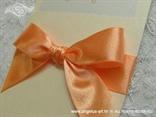 narančasta pozivnica detalj satenska mašna