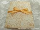 Pozivnica za vjenčanje Orange Flower Love