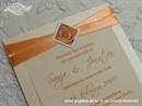Pozivnica za vjenčanje Simplicity Orange Rose