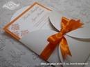 Pozivnica za vjenčanje Orange Damask Mini Beauty